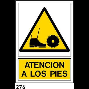 SEÑAL PVC NORM A4 CAST R-276 .ATENCION A LOS PIES.