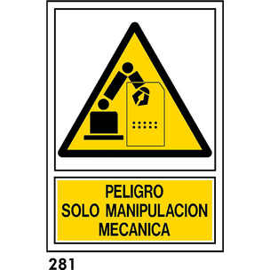 SEÑAL PVC NORM A4 CAST R-281 - .MANIPULACION....
