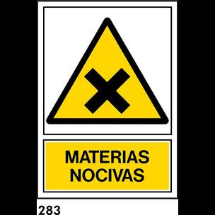 SEÑAL PVC NORM A4 CAST R-283/J910 .NOCIVAS.