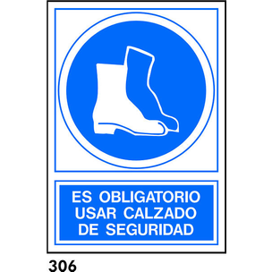 SEÑAL PVC NORM. A4 CAST. R-306 - USAR CALZADO