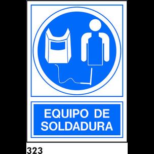 SEÑAL PVC NORM. A4 CAST. R-323 - EQUIPO SOLDADURA