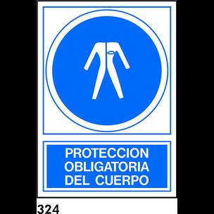 SEÑAL PVC NORM. A4 CAST. R-324 - PROTECCION CUERPO
