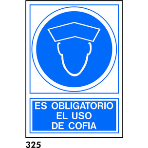 SEÑAL PVC NORM. A4 CAST. R-325 - USAR COFIA