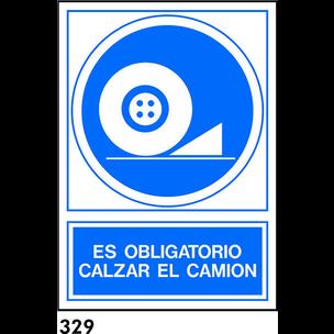 SEÑAL PVC NORM. A4 CAST. R-329 - CALZAR CAMION