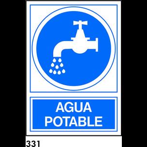 SEÑAL PVC NORM. A4 CAST. R-331 - AGUA POTABLE