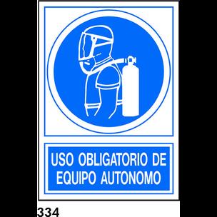 SEÑAL PVC NORM. A4 CAST. R-334 - EQUIPO AUTONOMO