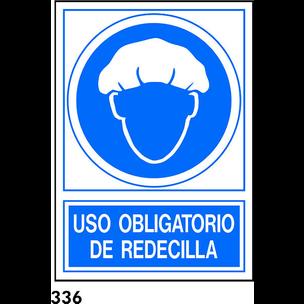 SEÑAL PVC NORM. A4 CAST. R-336 - USAR REDECILLA