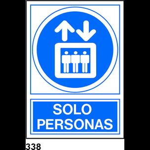 SEÑAL PVC NORM. A4 CAST. R-338 - SOLO PERSONAS