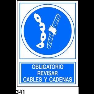 SEÑAL PVC NORM. A4 CAST. R-341 - REVISAR CABLES Y