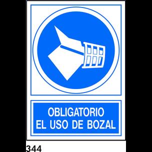 SEÑAL PVC NORM. A4 CAST. R-344 - USAR BOZAL
