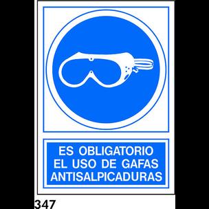 SEÑAL PVC NORM. A4 CAST. R-347 - UTILIZAR GAFAS AN