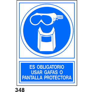 SEÑAL PVC NORM. A4 CAST. R-348 - PROTECCION FACIAL