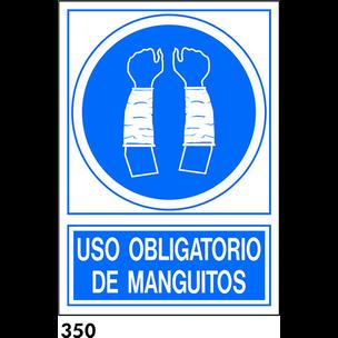 SEÑAL PVC NORM. A4 CAST. R-350 - UTILIZAR MANGUITO