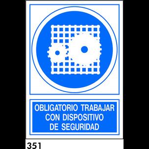 SEÑAL PVC NORM. A4 CAST. R-351 - DISPOSITIVO SEGUR