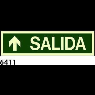 SEÑAL PVC FOTO 402x105 R-6411 - SALIDA + FLECHA