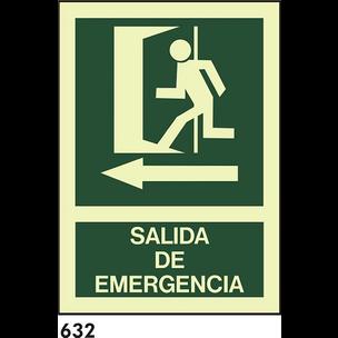 SEÑAL AL. FOTO A4 R-632 - SALIDA DE EMERGENCIAS