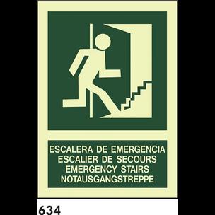 SEÑAL PVC FOTO A4 R-634 - IDIOMAS - ESCALA D E....