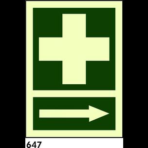 SEÑAL AL. NORM A3 R-647 - BOTIQUIN FLECHA DERECHA