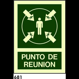 SEÑAL AL. NORM. 840X594MM R-681 - PUNTO DE REUNION