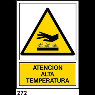 SEÑAL PVC NORM A3 CAT R-272 - ATENCIO ALTA TEMPERA