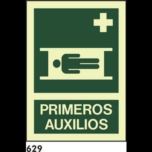 SEÑAL PVC FOTO A3 CAT R-629 - PRIMERS AUXILIS