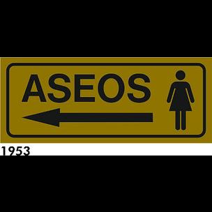 SEÑAL ALUMINIO FONDO AZUL A4 R-1953 - .ASEOS SRA.