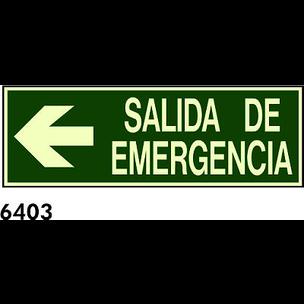 SEÑAL PVC FOTO CAST 445X148 R-6403 - SALIDA DE EM