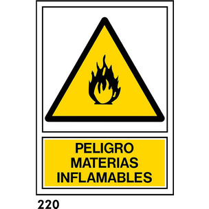 SEÑAL PVC NORM A4 CAT R-220 - MATERIES INFLAMABLES