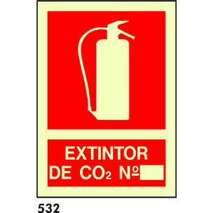 SEÑAL PVC NORM A4 CAT R-532 .EXTINTOR CO2.