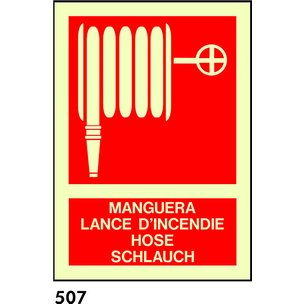 SEÑAL PVC NORM A4 R-507 - MANGUERA IDIOMAS