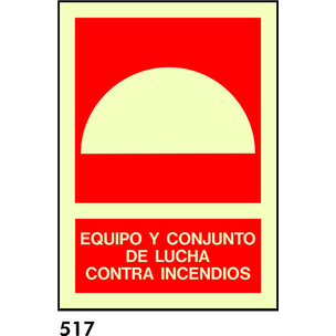 SEÑAL PVC FOTO. A4 CAST R-517 - EQUIPO LUCHA CONTR