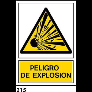 PEGATINA A3 CAT R-215 - .PELIGRO EXPLOSION.