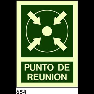 SEÑAL PVC NORM. 21x21 R-654 - PUNTO DE REUNION