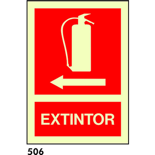SEÑAL PVC FOTO 21X10.5 S/TEXTO R-506 - EXTINTOR+FL