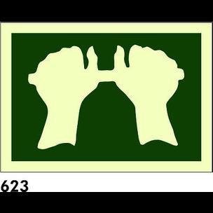 SEÑAL PVC NORM 21X21 R-623 - PICTOGRAMA EMPUJAR