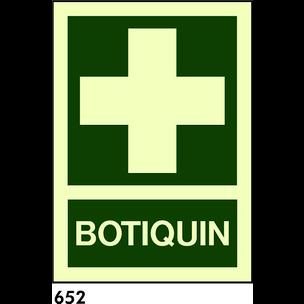 SEÑAL PVC NORM. 21X21 - R-652 - .BOTIQUIN.
