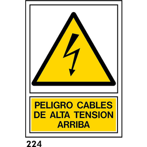 PEGATINA A4 CAST R-224 - .ALTA TENSION.