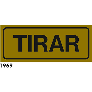 SEÑAL AL. DORADO 21X6.5 CAT R-1969 - ESTIREU