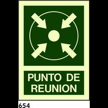 SEÑAL AL. NORM A4 CAST R-654 - PUNTO DE REUNION