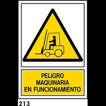 SEÑAL PVC NORM. BANDEROLA A3 R-213 - MAQUINARIA EN