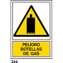 SEÑAL AL. NORM A3 CAST R-266 - .BOTELLAS DE GAS.