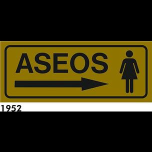 SEÑAL ALUMINIO FONDO AZUL A4 R-1952 - .ASEOS SRA.