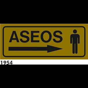 SEÑAL ALUMINIO FONDO AZUL A4 R-1954 - .ASEOS SR.