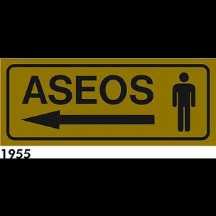 SEÑAL ALUMINIO FONDO AZUL A4 R-1955 - .ASEOS SR.