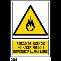 SEÑAL AL.  NORM. A4 CAST R-205 - RIESGO INCENDIO