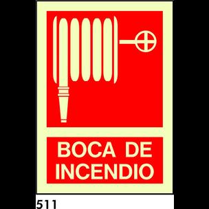 SEÑAL PVC FOTO A5 CAST R-511 - .BOCA DE INCENDIO.