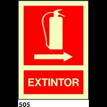 SEÑAL AL. FOTO A3 R-505 - .EXTINTOR.