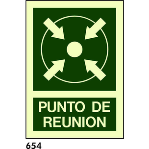 SEÑAL AL. FOTO A4 R-654 - PUNTO DE REUNION