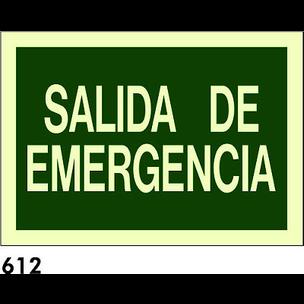 SEÑAL AL. FOTO A4 R-612 - SALIDA DE EMERGENCIAS