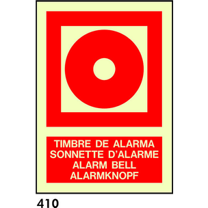 SEÑAL AL. FOTO A4 R-410/C533 .TIMBRE ALARMA.